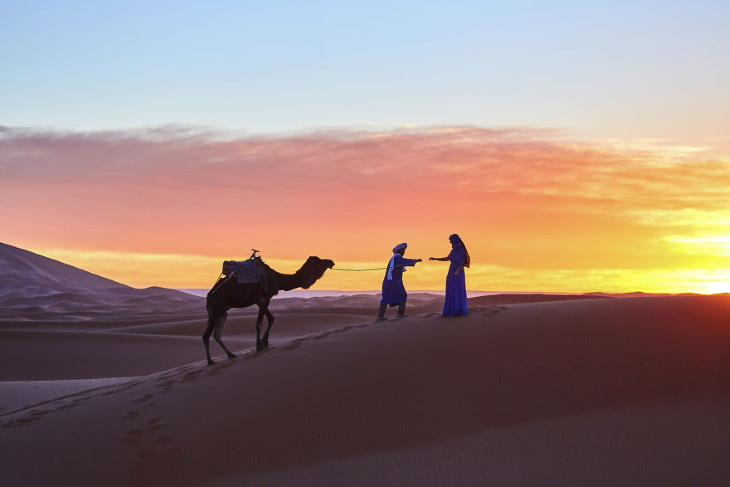 Morocco Photography by Aurel Paduraru couple and camel