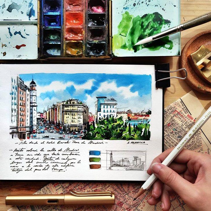Watercolor Travel Paintings