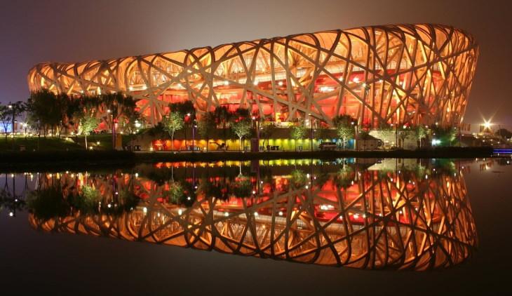 buildings inspired by nature Beijing National Stadium in Beijing, Chinaby Herzog & de Meuron