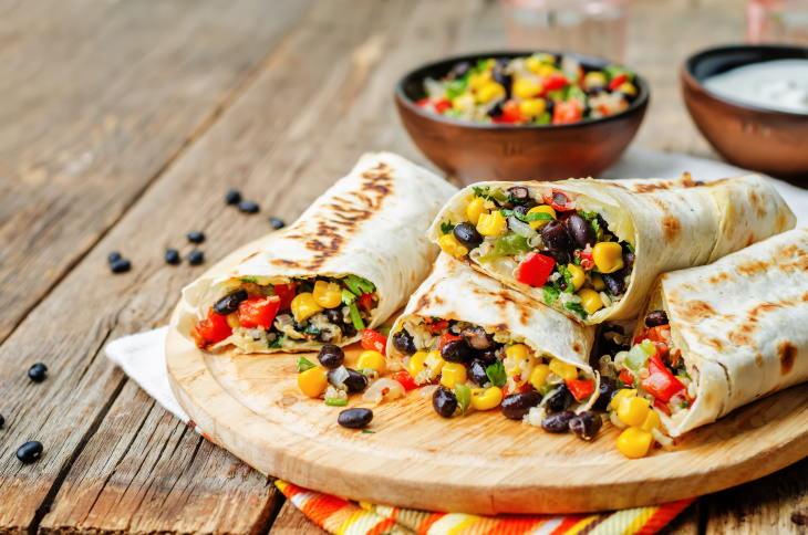 Healthiest Takeout Dishes Bean Burritos