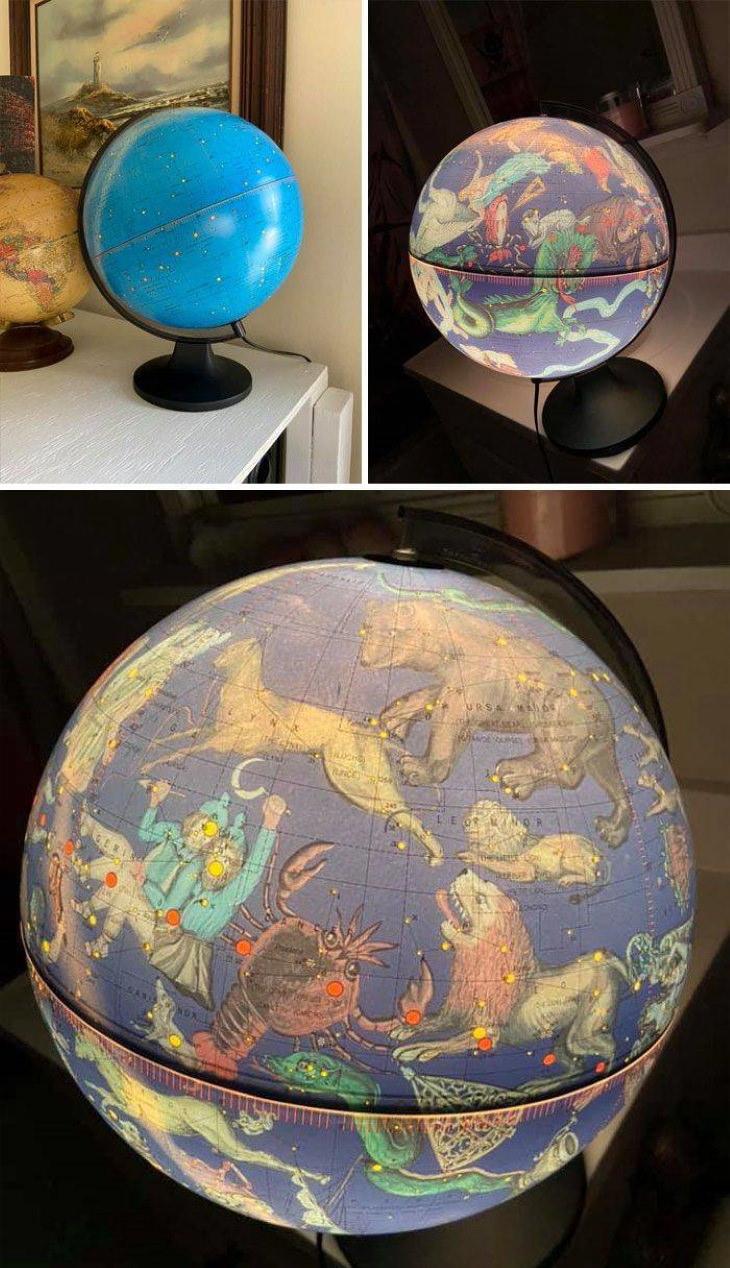 Thriftstore Treasures glowing globe