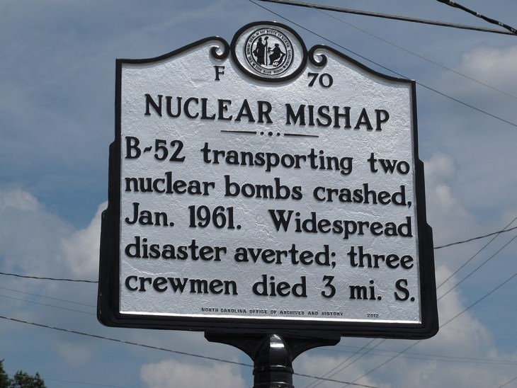 The US Nuclear Disaster That Never Happened sign