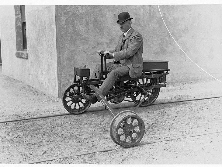 Unusual Vintage Vehicles, Railway Motor Tricycle
