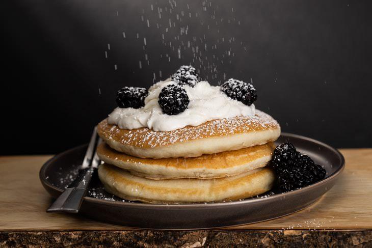 Acne Causing Foods pancakes