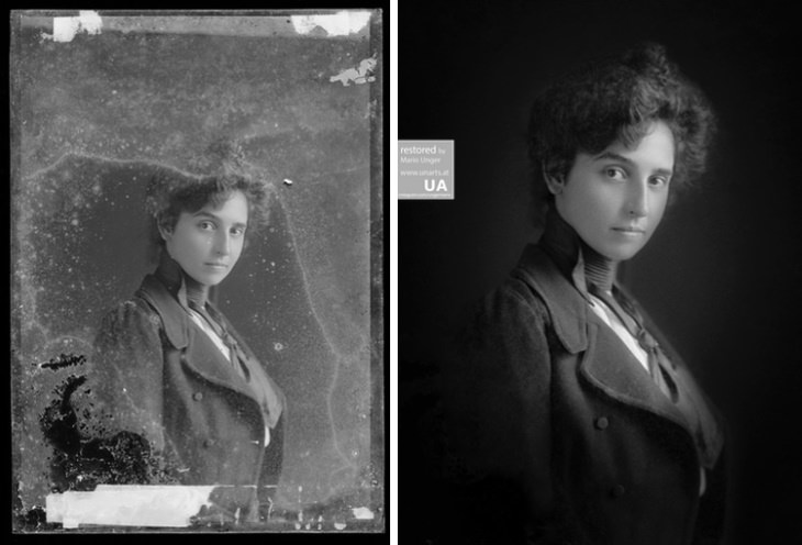 Mario Unger photo restoration Unknown Woman, ca 1890, Restoration, Photographer: C.M.Bell