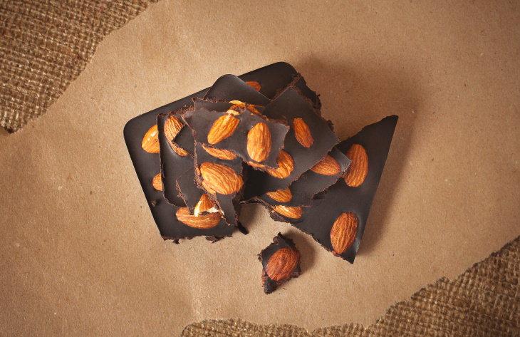Weight Loss Snacks Dark Chocolate and Almonds