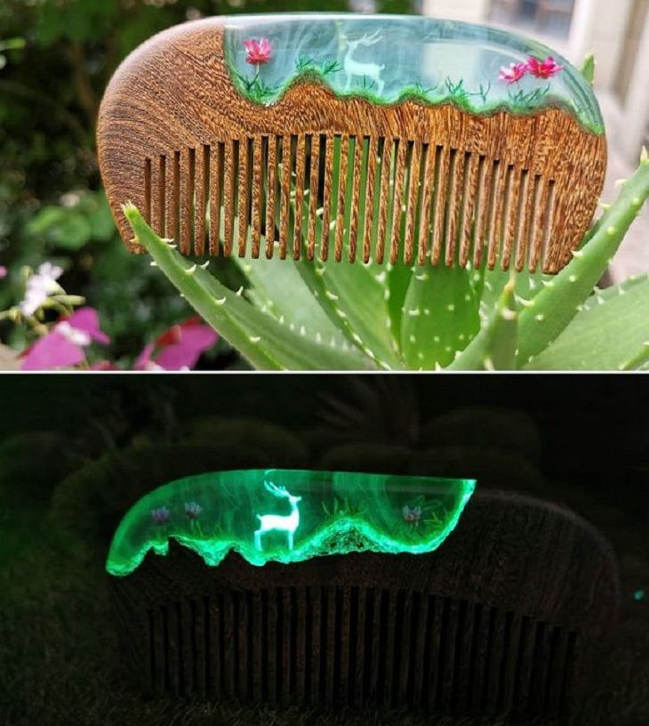 DIY Creations, resin comb