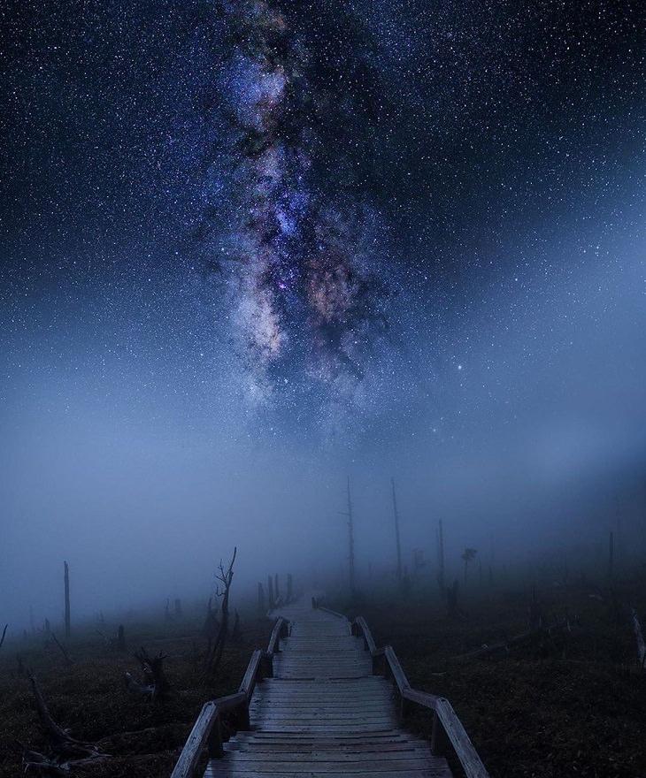 Night Sky,  stairway