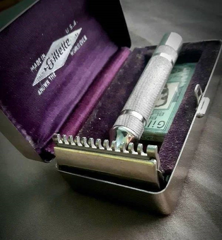 Vintage Devices That Still Work nickel-plated Gillette NEW from 1930s