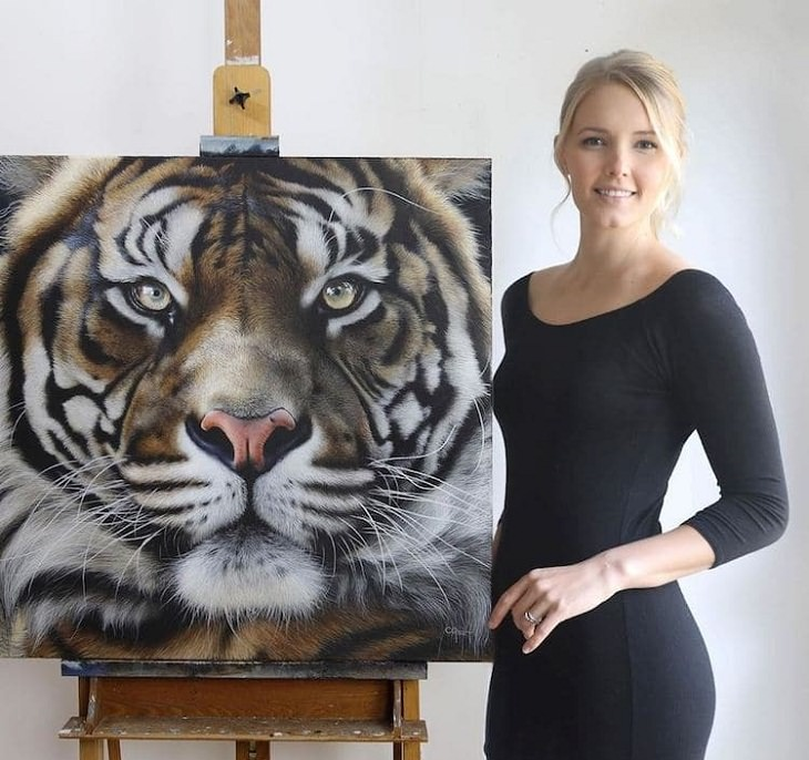 Wildlife Paintings, a tiger