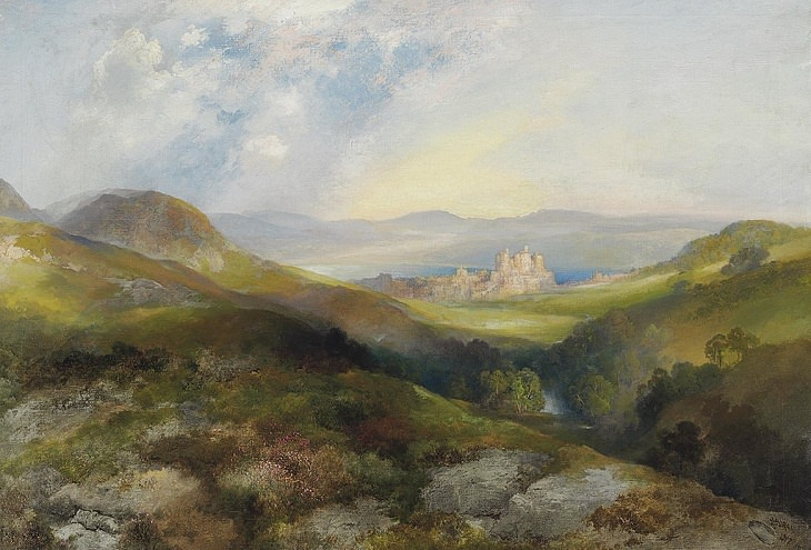 Watercolors by Thomas Moran,
