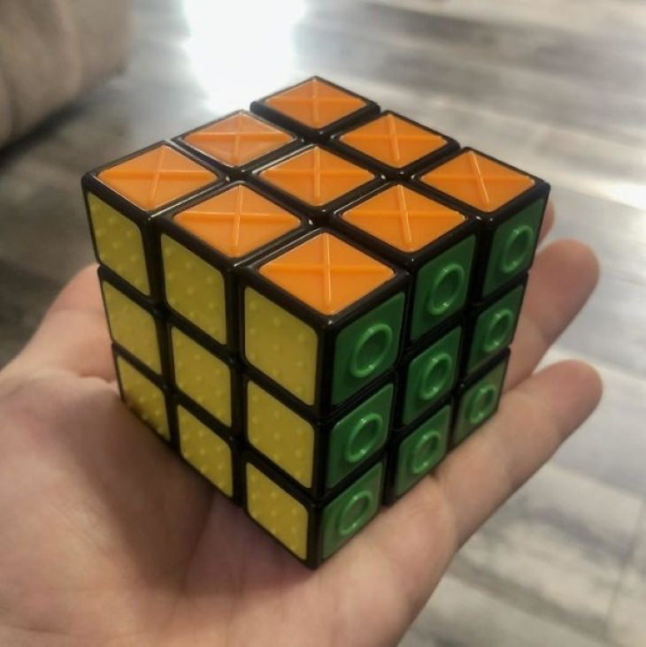 Genius Innovations for People With Disabilities This Rubik's Cube can also be used by the blind
