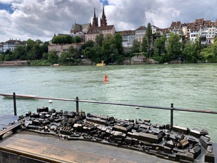 Genius Innovations for People With Disabilities A model of the city that allowsvisually impaired individuals to experience the layout of the city of Basel, Switzerland