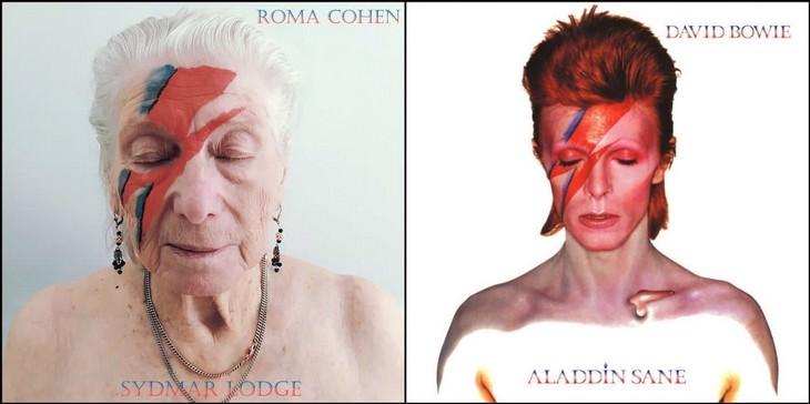 Seniors Brilliantly Recreate Famous Album Covers 1. David Bowie - Aladdin Sane