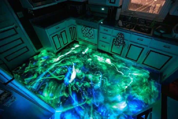 Inventive Upgrades, resin kitchen floor