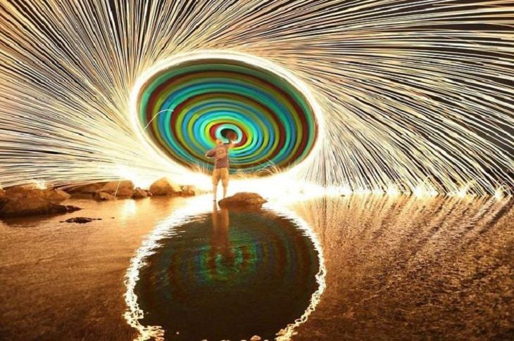 Accidental Experiments, burning steel wool