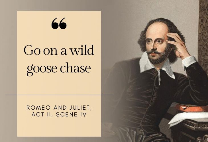 common phrases coined by Shakespeare Go on a wild goose chase