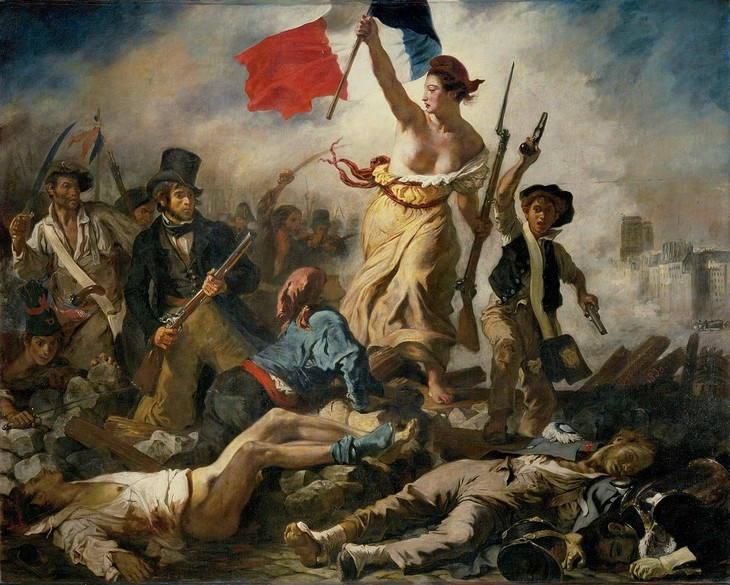 Works of Art Inspired by Revolution Liberty Leading The People by Eugene Delacroix
