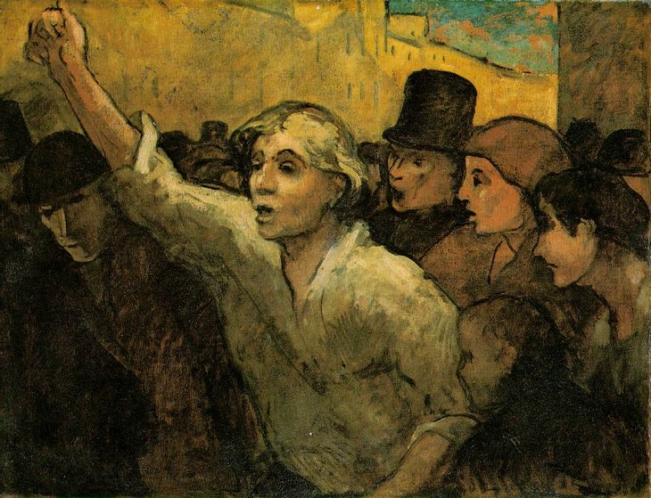 Works of Art Inspired by Revolution The Uprising by Honore Daumier