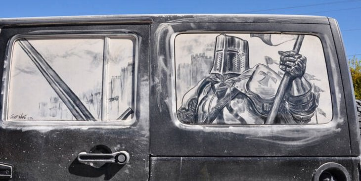 Dirty Car Windows Turned Into Incredible Art