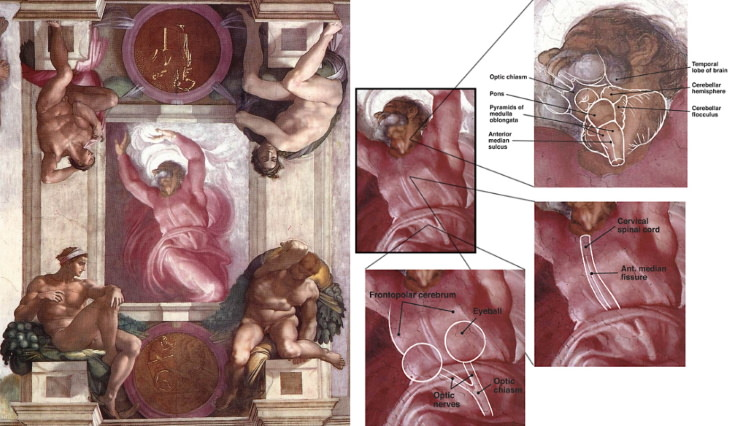 Hidden Messages in Famous Art 'The Separation of Light from Darkness' by Michelangelo