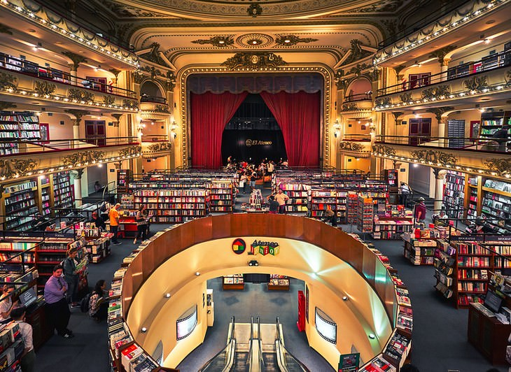 Unusual Bookshops Located in Strange Places El Ateneo Grand Splendid