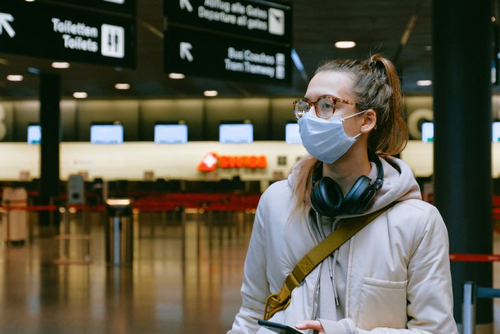 COVID-19: How to Fly Safely During a Pandemic  face mask airport