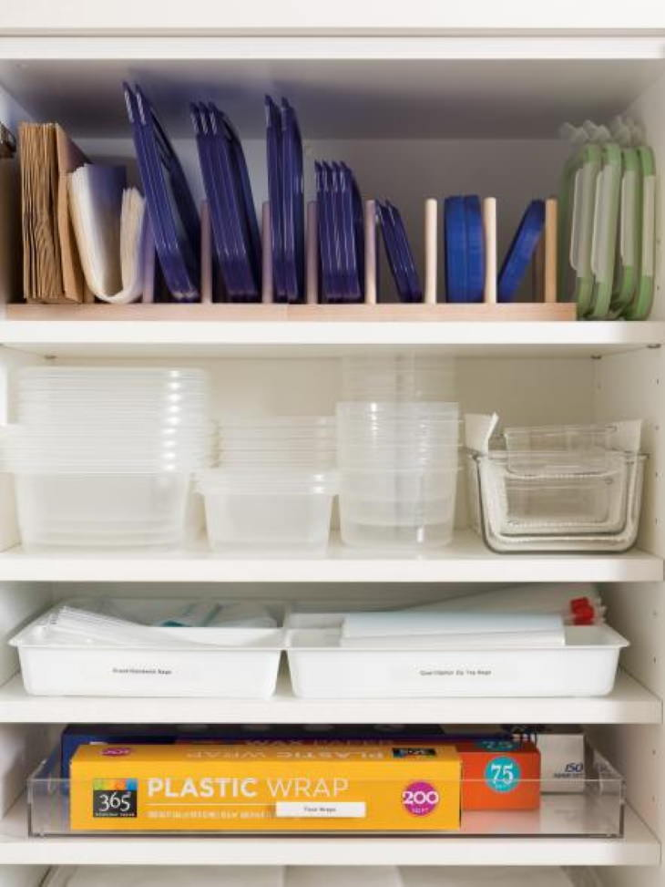 Tupperware organization tips Plate racks