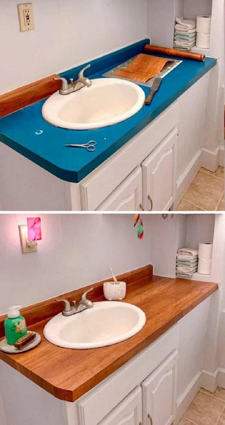 Home Renovation, bathroom counter