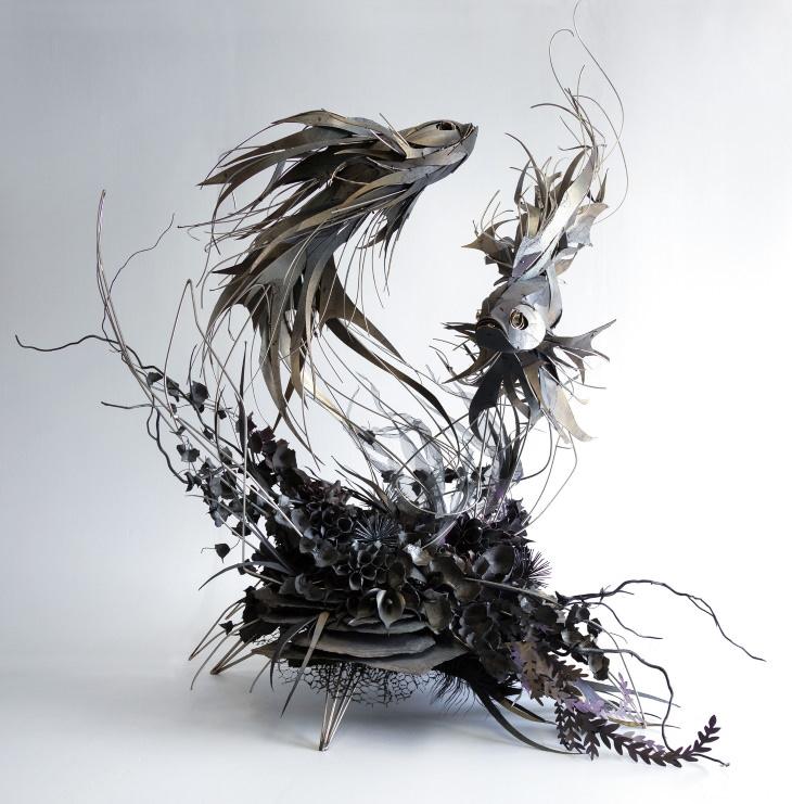 Georgie Seccull animal sculptures Dancing in the Dark