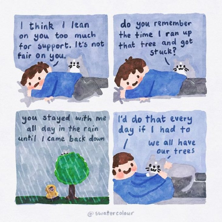 Comics About Cat Giving Mental Health Advice