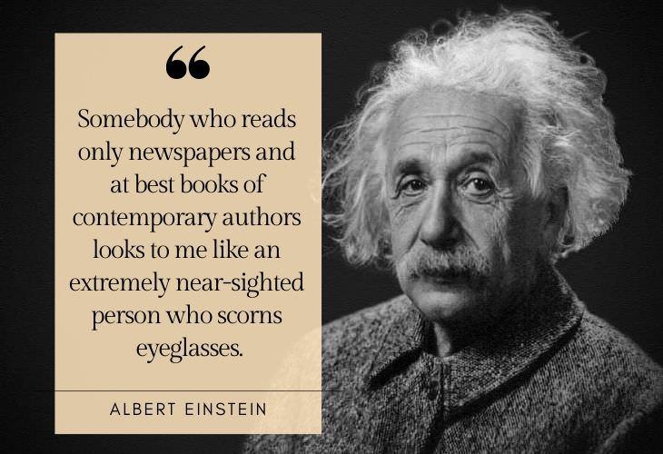 Reading Advice from Famous Figures Albert Einstein