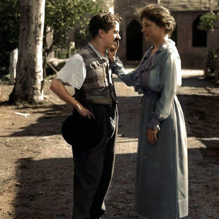 History Old Photos, Helen Keller Charlie Chaplin