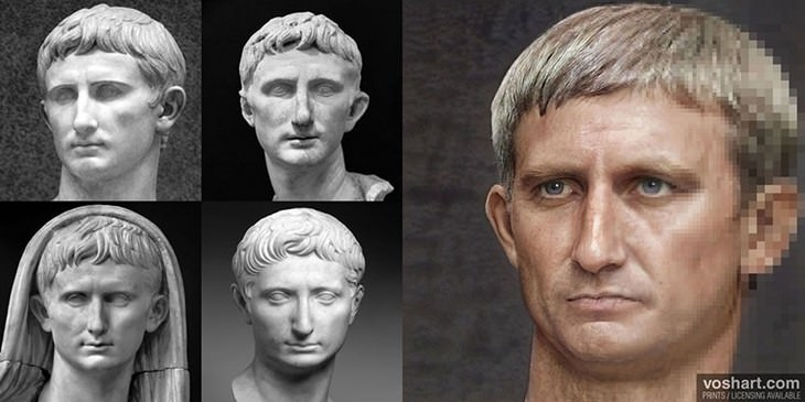 Realistic Portraits of Roman Emperors Made with AI Augustus
