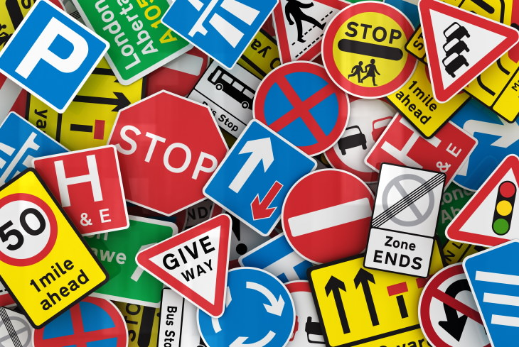 Traffic Sign Shapes road signs