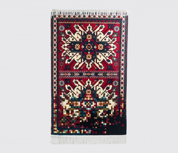 Traditional Azerbaijani carpets and wall-hangings with a creative modern twist designed by artist Faig Ahmed