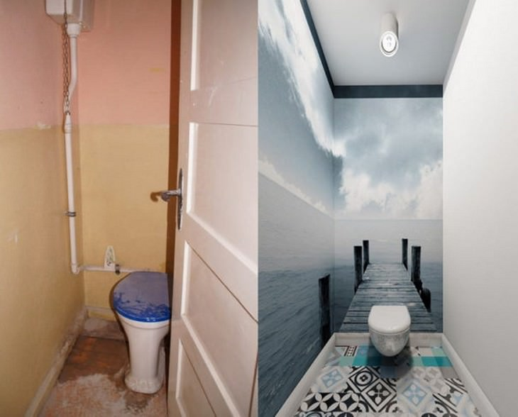 Outrageous Toilet Designs before and after