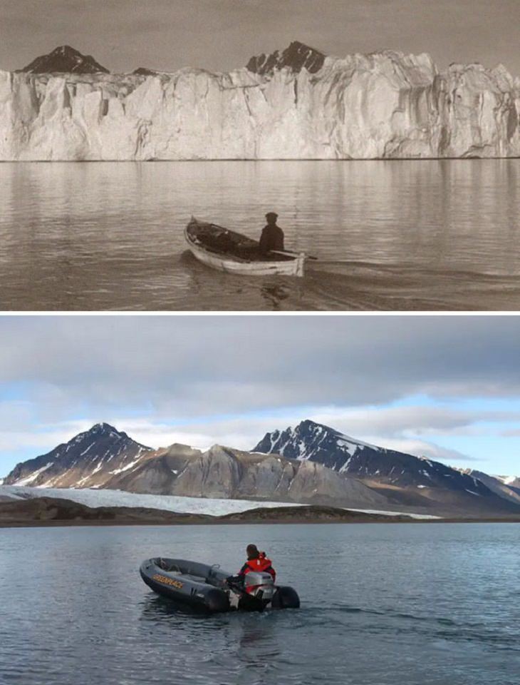 'Then And Now' Pics, Arctic