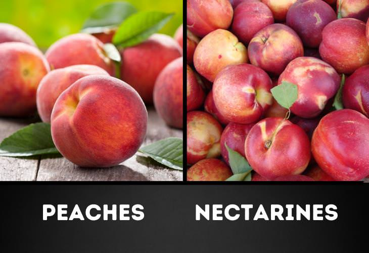Food Pairs That Commonly Confuse Us, Nectarines vs. peaches