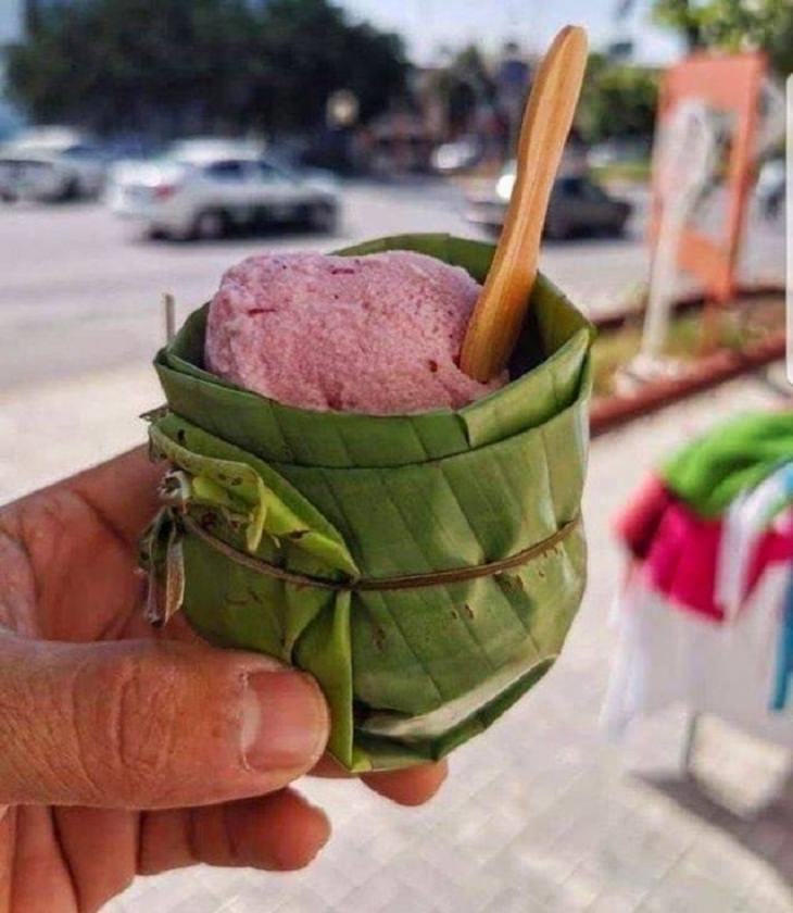Eco-Friendly Upcycling, ice cream cup