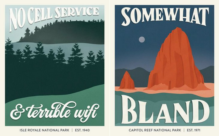 Terrible National Park Reviews Illustrated Isle Royale National Park,  Capitol Reef National Park