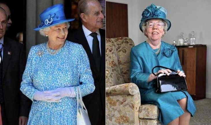 Incredible images Queen Elizabeth double