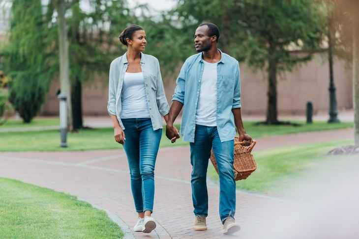 Words To Leave OUT of Your Vocabulary couple walking and conversing