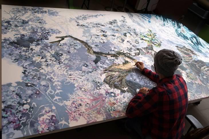 Manabu Ikeda painting