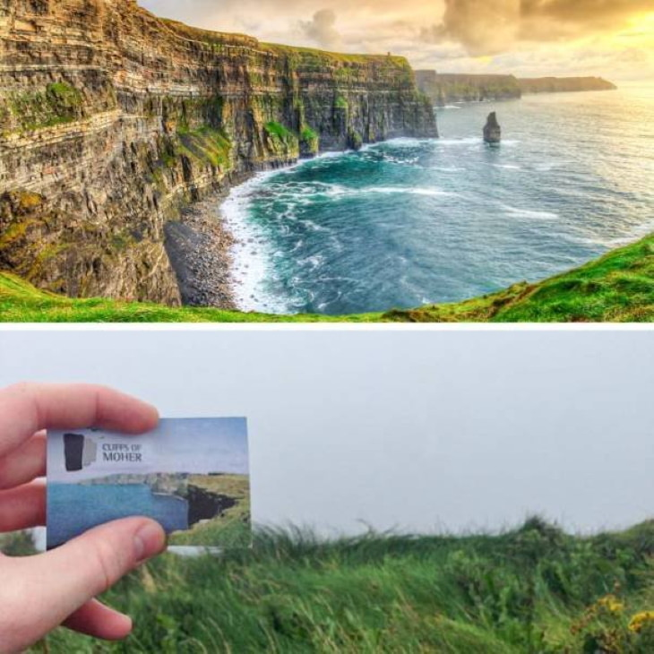 Expectation vs Reality Travel Destinations Cliffs of Moher, County Clare, Ireland