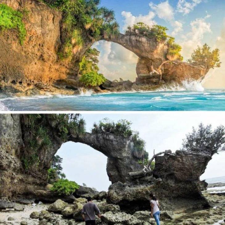 Expectation vs Reality Travel Destinations Neill Island, India.