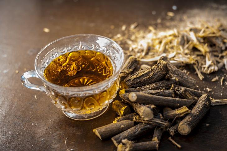 Teas for Asthma Relief  Licorice Tea (Glycyrrhiza glabra)