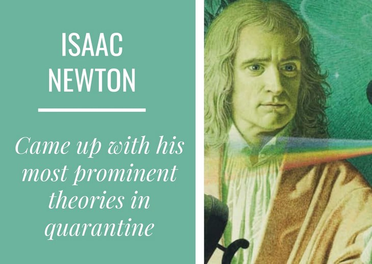 People Who Created Masterpieces in Quarantine Isaac newton