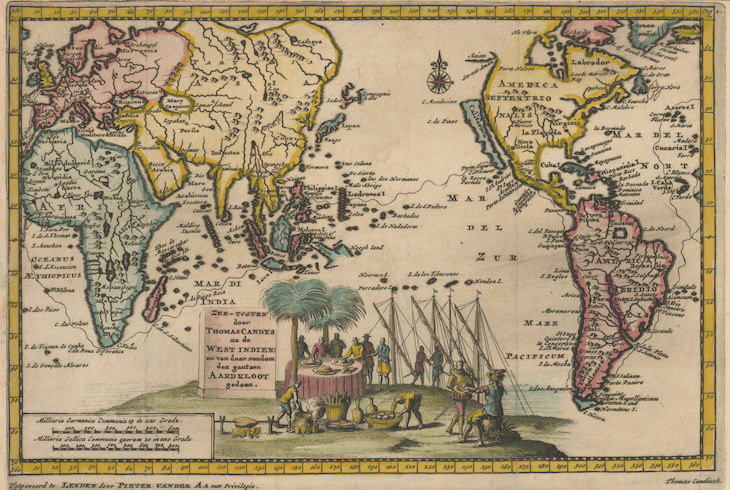 The Incredible History of the Panama Canal, 1660s map