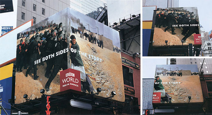 Brilliantly Creative Billboards, BBC both sides of the story
